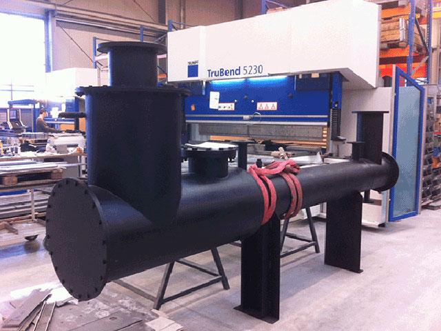 AMM-GmbH-Fertigung eines Wärmetauschers