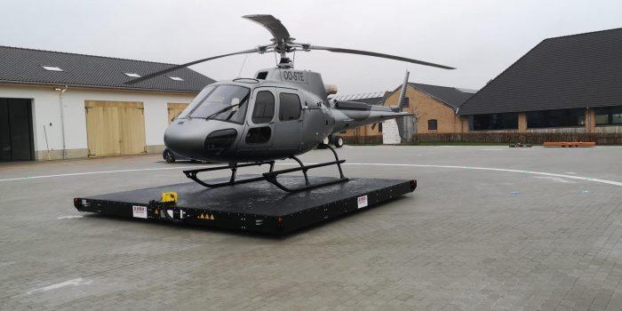 Freifahrende AMM Hubschrauberlandeplattform Belgien